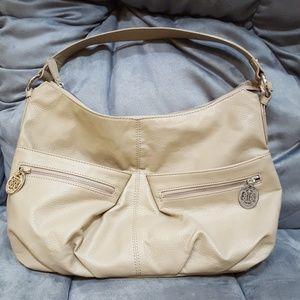 Large DANA BUCHMAN Sim-leather hobo handbag
